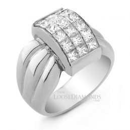14k White Gold Classic Style Diamond Cocktail Ring
