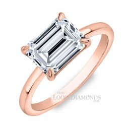 14k Rose Gold Solitaire Diamond Engagement Ring