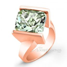 18k Rose Gold Solitaire Amethyst Cocktail Ring